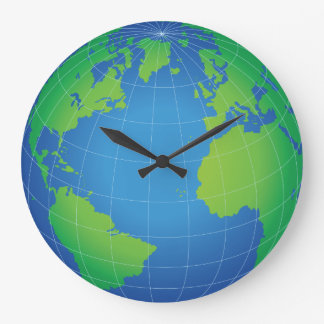 World Globe Map Large Clock