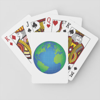 World Globe Map Playing Cards