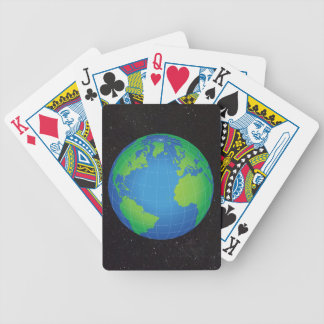 World Globe Map Starry Sky Bicycle Playing Cards