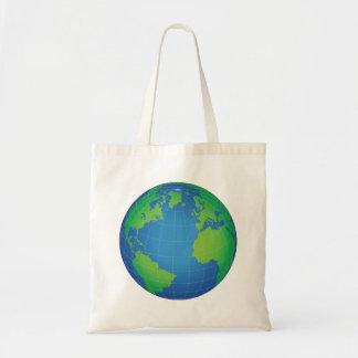World Globe Map Tote Bag