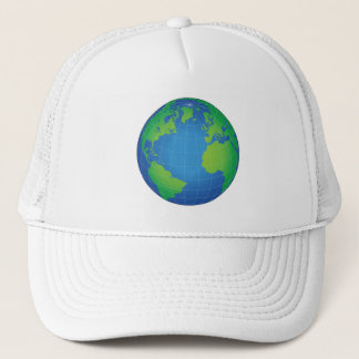 World Globe Map Trucker Hat