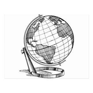 World Globe Postcard
