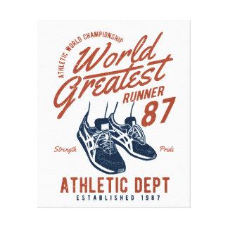 World Greatest Runner Canvas Print