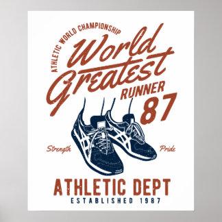 World Greatest Runner Poster