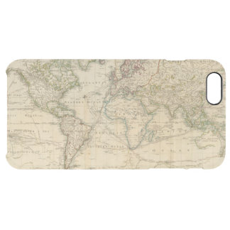 World Hand Colored map Clear iPhone 6 Plus Case