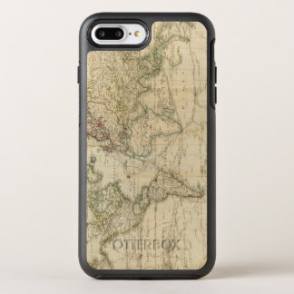 World Hand Colored map OtterBox Symmetry iPhone 7 Plus Case