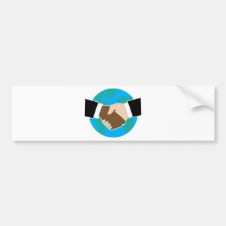 World Hand Shake Bumper Sticker