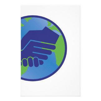 World Handshake Stationery Design