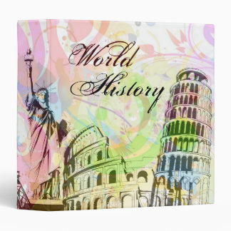 World History Art 3 Ring Binders