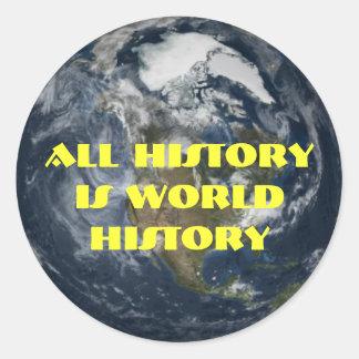 World History Round Sticker
