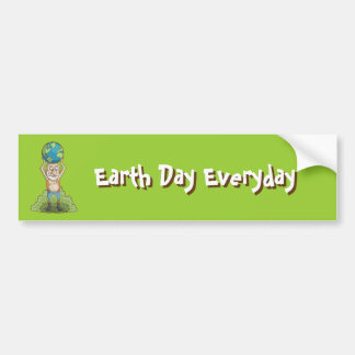 World Holder Green Earth Bumper Stickers