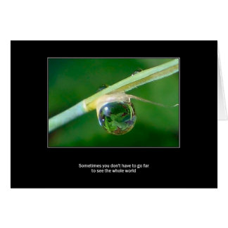 World in a droplet card