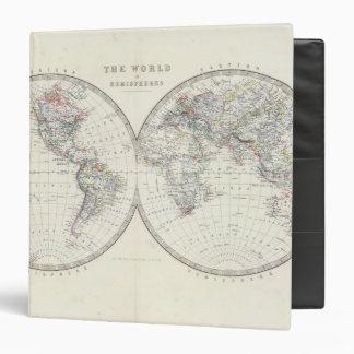 World in hemispheres 3 ring binders