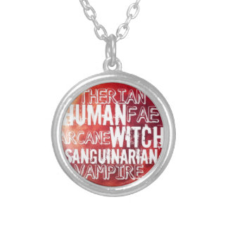 World in Shadows Factions Silver Plated Necklace
