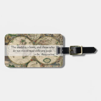 World Is a Book And Those Who Do Not Travel Quote Luggage Tag