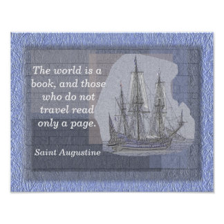 World is a book - Saint Augustine - quote print