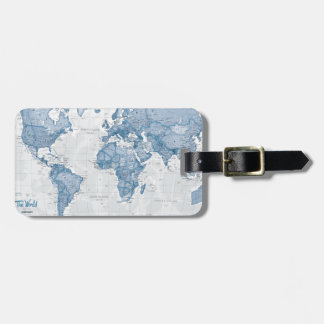 World is Art - Blue Luggage Tag
