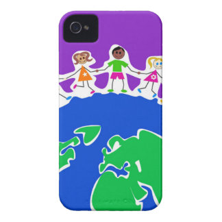 World Kids Drawing Case-Mate iPhone 4 Cases