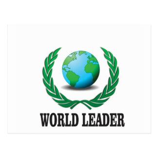 world leader postcard