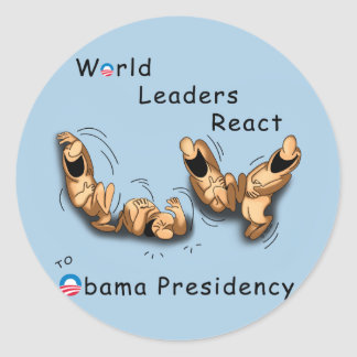World Leaders React (Obama) Classic Round Sticker