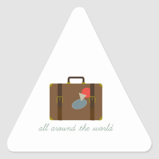 World Luggage Triangle Sticker