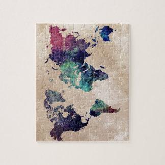 world map 10 puzzle