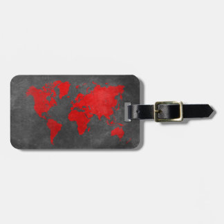 world map 11 luggage tag