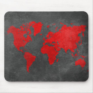world map 11 mouse pad