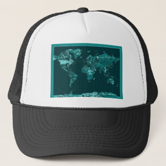world map 11 trucker hat