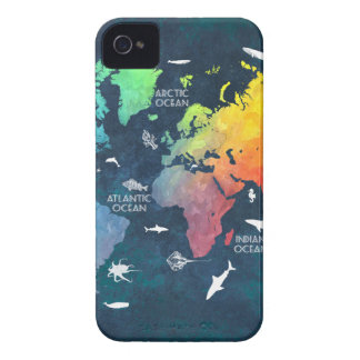 world map 12 iPhone 4 cover