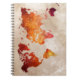 world map 13 notebook