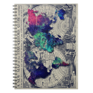 world map 15 notebook
