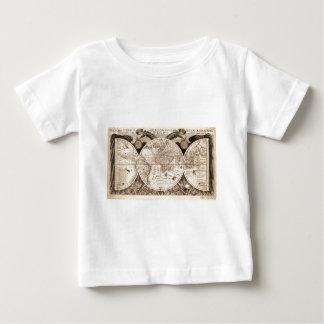 world map 1600 latin original black&white baby T-Shirt
