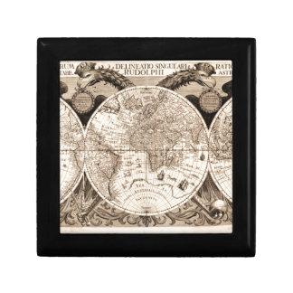 world map 1600 latin original black&white gift box