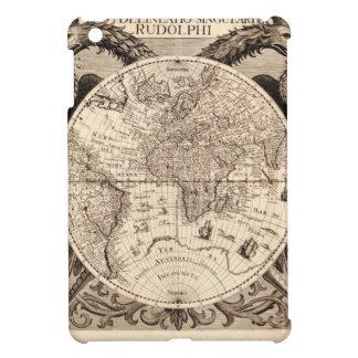 world map 1600 latin original black&white iPad mini cover