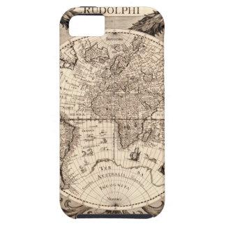 world map 1600 latin original black&white iPhone 5 cover