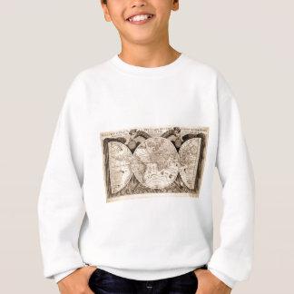 world map 1600 latin original black&white sweatshirt
