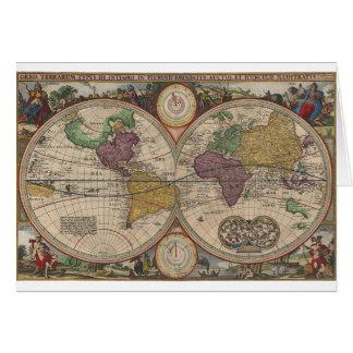 World Map 1657 Card