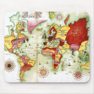 World Map 1675 Mouse Pad