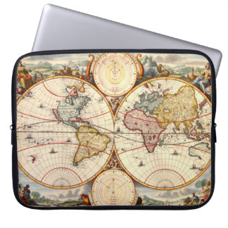 World Map 1680 Laptop Sleeve