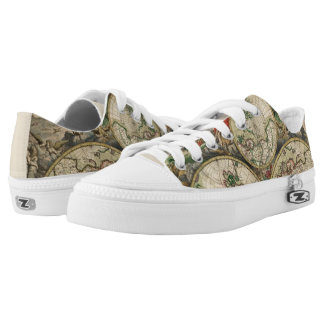 World Map 1689 Low-Top Sneakers