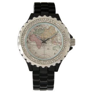 World map 17th century Wristwatches