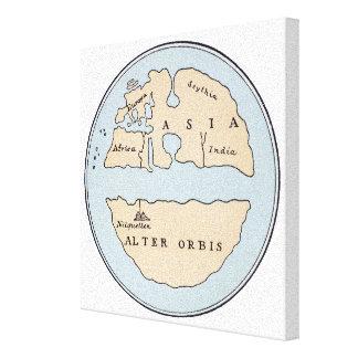 WORLD MAP, 1ST CENTURY CANVAS PRINT