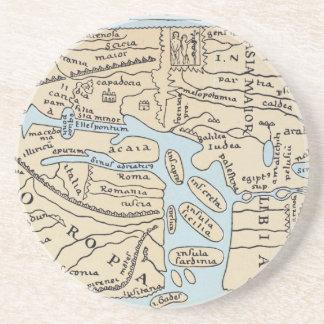 WORLD MAP 2ND CENTURY COASTER