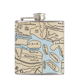 WORLD MAP 2ND CENTURY FLASKS