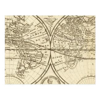 World Map 4 Postcard