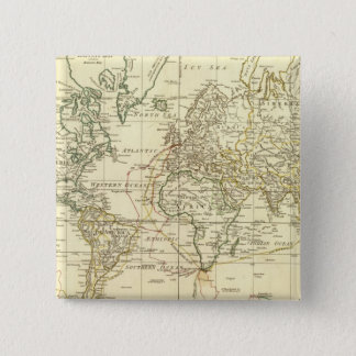 World Map 5 2 Inch Square Button