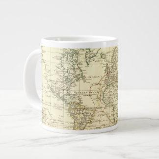 World Map 5 Large Coffee Mug