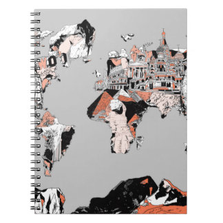 world map 5 notebooks