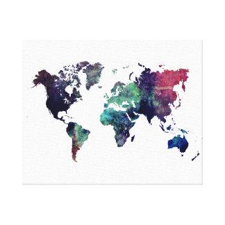 world map 6 canvas print